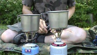 MSR Rocket vs. $8 Pocket Stove from Amazon.com Boil Test