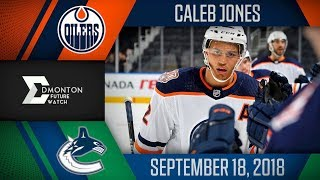 Caleb Jones | One Goal vs Vancouver | Sep. 17, 2018