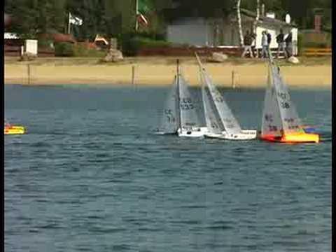 RC Sailboat Race -  IOM  one metre class