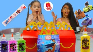 Don't Chose the wrong McDonald's Happy Meal Slime Challenge 3 colors