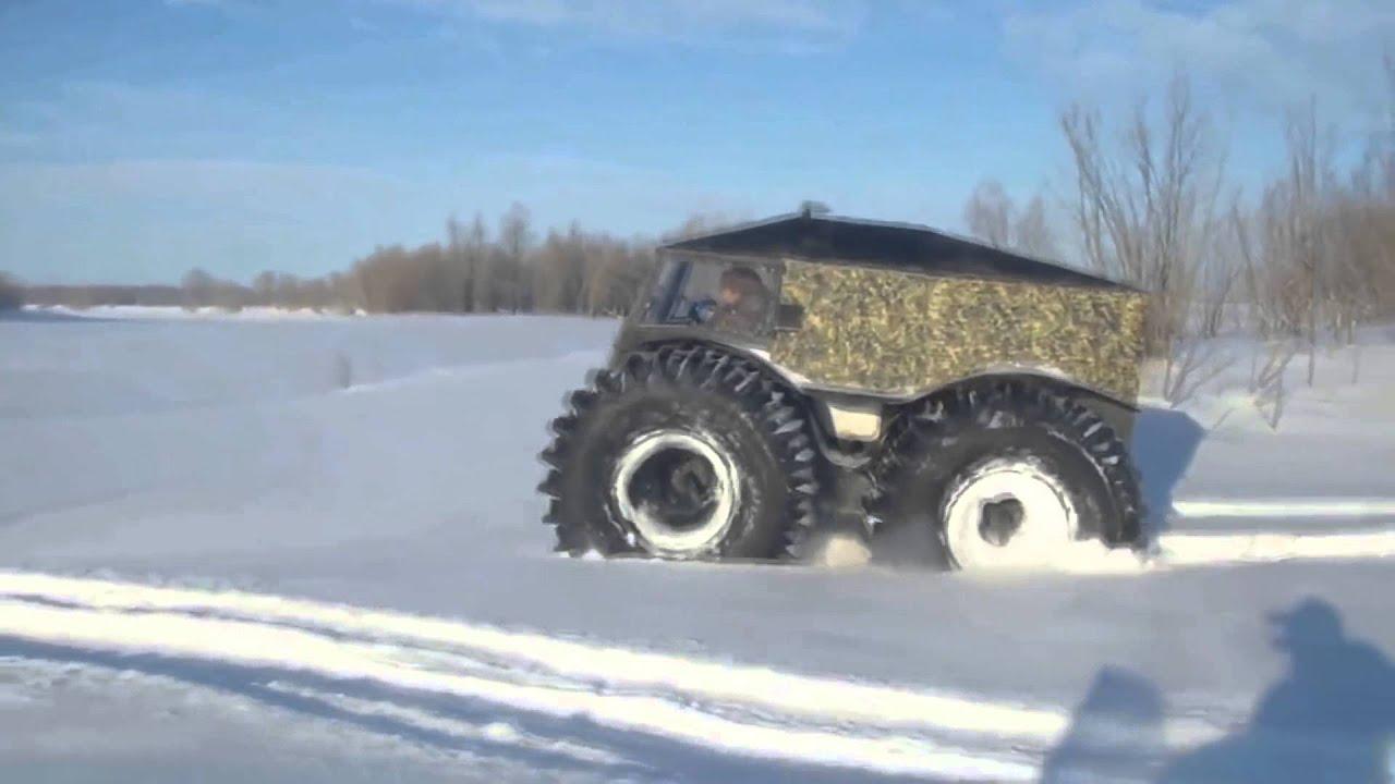 Test drive all-terrain vehicle Sherpa