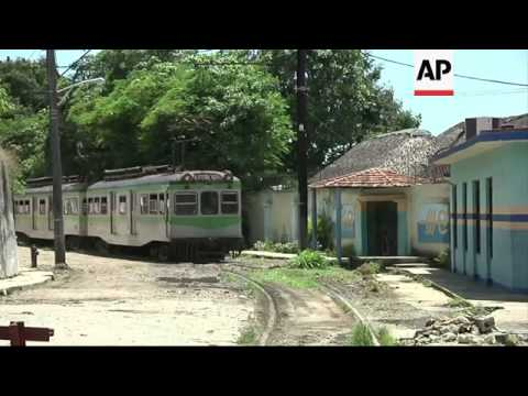 Small commuter train links Havana with string of remote rural towns