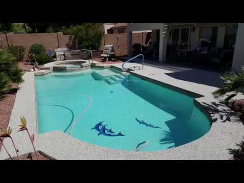 Rubber Stone Concrete Coating Phoenix Metro Before and After