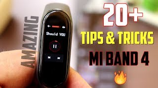 Mi Band 4 Tips and Tricks, Amazing HIDDEN FEATURES | Music Controls | Hindi