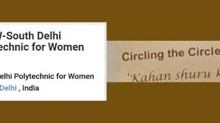 Art Exhibition # Circling the Circle # South Delhi Polytechnic for Women