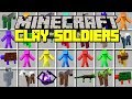 Minecraft CLAY SOLDIERS MOD! l BUILD & COMMAND ARMY OF SOLDIERS! l Modded Mini-Game