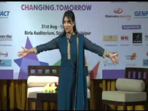 Leena Gupta on Art of Living @ ChaT - Changing Tomorrow, Jaipur