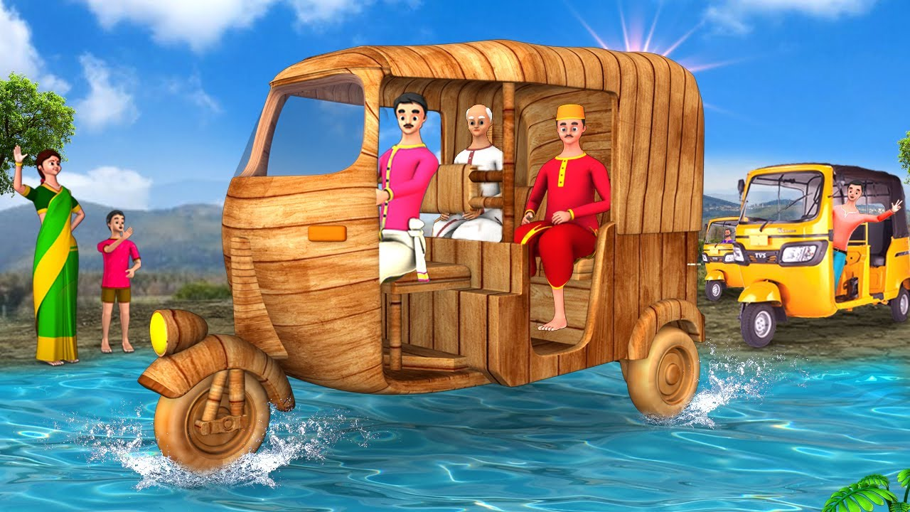 Download மர ஆட்டோ டிரைவர் Wooden Auto Driver 3D Animated Moral Stories Maa Maa TV Fairy Tales Short Stories