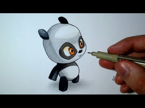 Comment Dessiner Un Bebe Panda Kawaii Tutoriel Spe Dofus Youtube