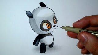 Comment dessiner un Bébé Panda Kawaii [Tutoriel] Spe. Dofus