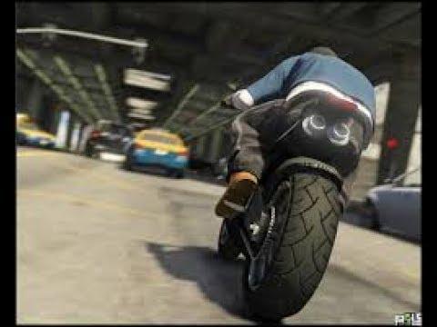 COURS PARCOURE EN MOTO-GTA 5!!