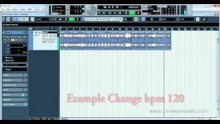 how to auto change bpm tabla dholak loop in song