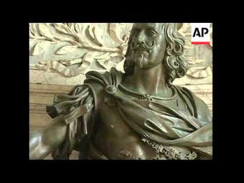 Restoration of Bernini statue of King Philip IV of Spain EMBARGOED  to 1600 GMT
