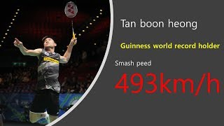 Badminton Smash speed Guinness world record holder - Tan boon heong
