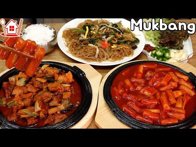 [광고] 맛있는 조합 😚 떡볶이, 닭갈비, 잡채 먹방 Mukbang