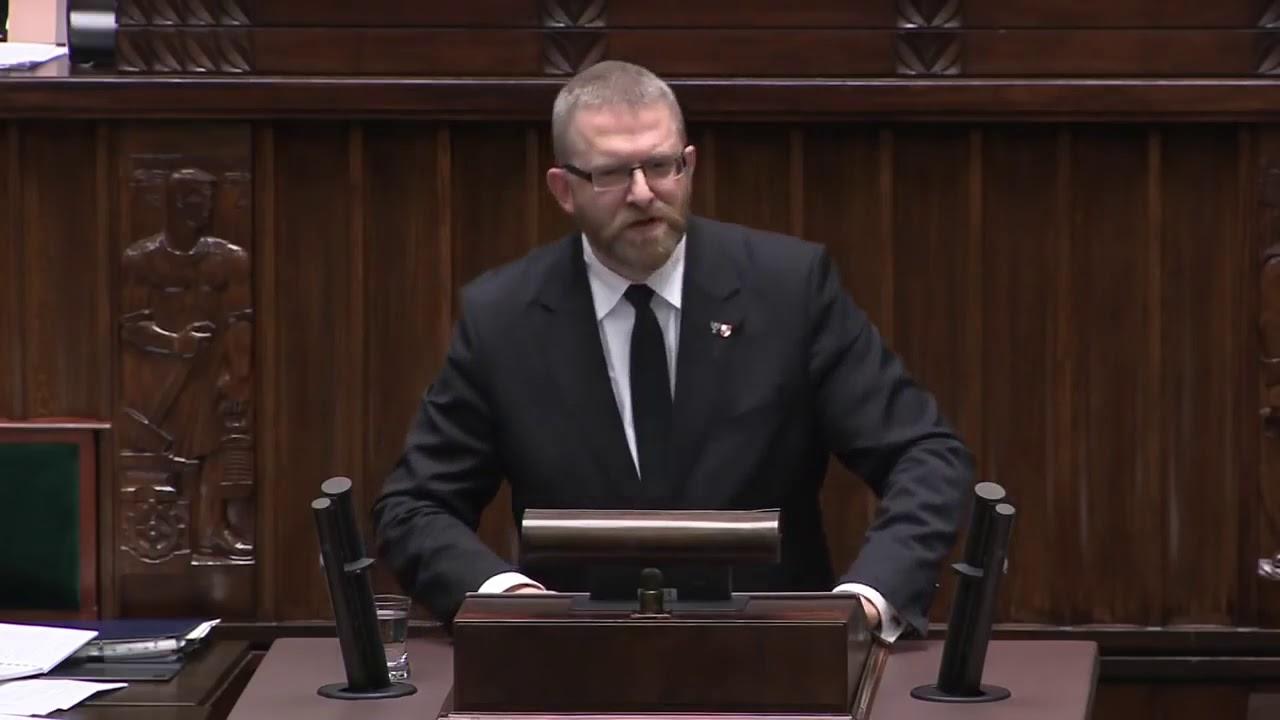 Grzegorz Braun (Konfederacja) o przymusie szczepień i policji sanitarnej | Sejm (19.12.2019)