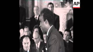 CAN182 KENNETH KAUNDA SPEAKS AT THE INDEPENDENCE CONFERENCE FOR NORTHERN RHODESIA