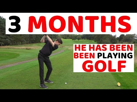i can't believe he has only been playing golf for 3 MONTHS ...WOW