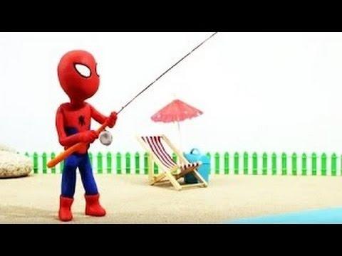 Spidergirl & Spiderman Crybaby Bubble Gum Gumball Machine Superhero Frozen Stop Motion Epi