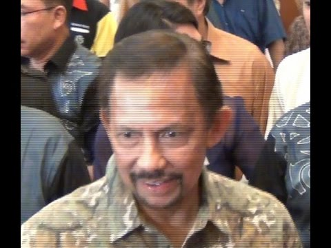 Sultan of Brunei at the Hilton Hotel, Kuching, Sarawak, Mala