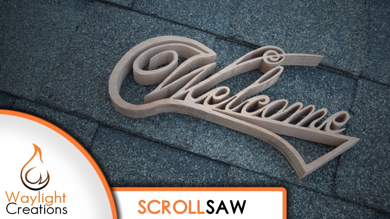 easy diy welcome sign scroll saw project youtube