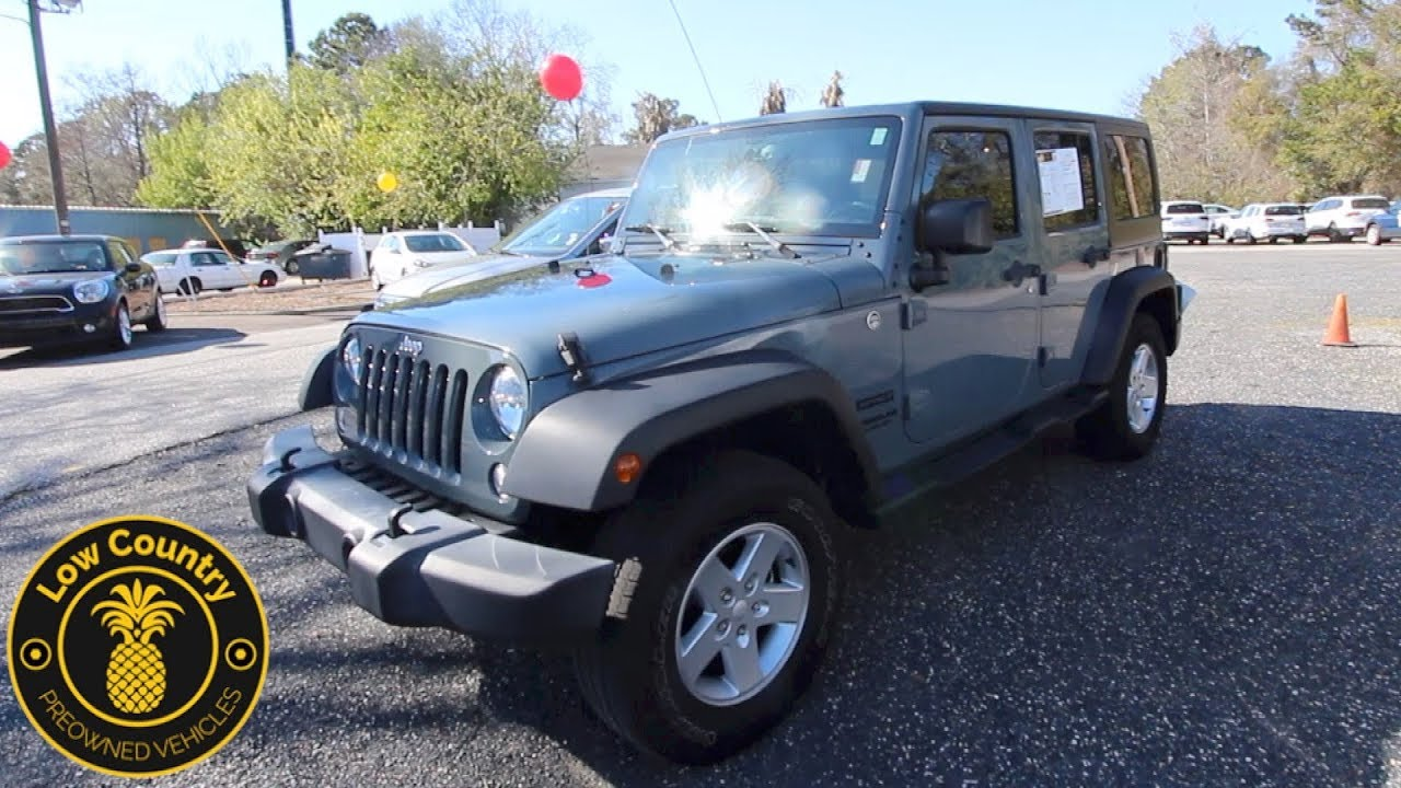 Jeep Wrangler For Sale In Sc >> Here S The 2015 Jeep Wrangler Unlimited For Sale Review Lowcountry Preowned Mt Pleasant Sc