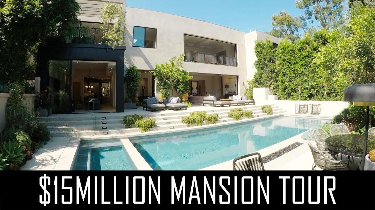 15million beverly hills modern mansion tour