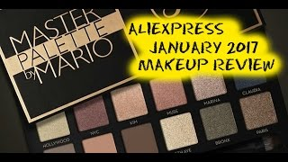 AliExpress Makeup Haul / Review - Swatches Included - January 2017