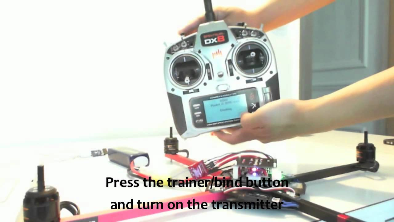 How to make a quadcopter step 6 bind the receiver and the transmitter