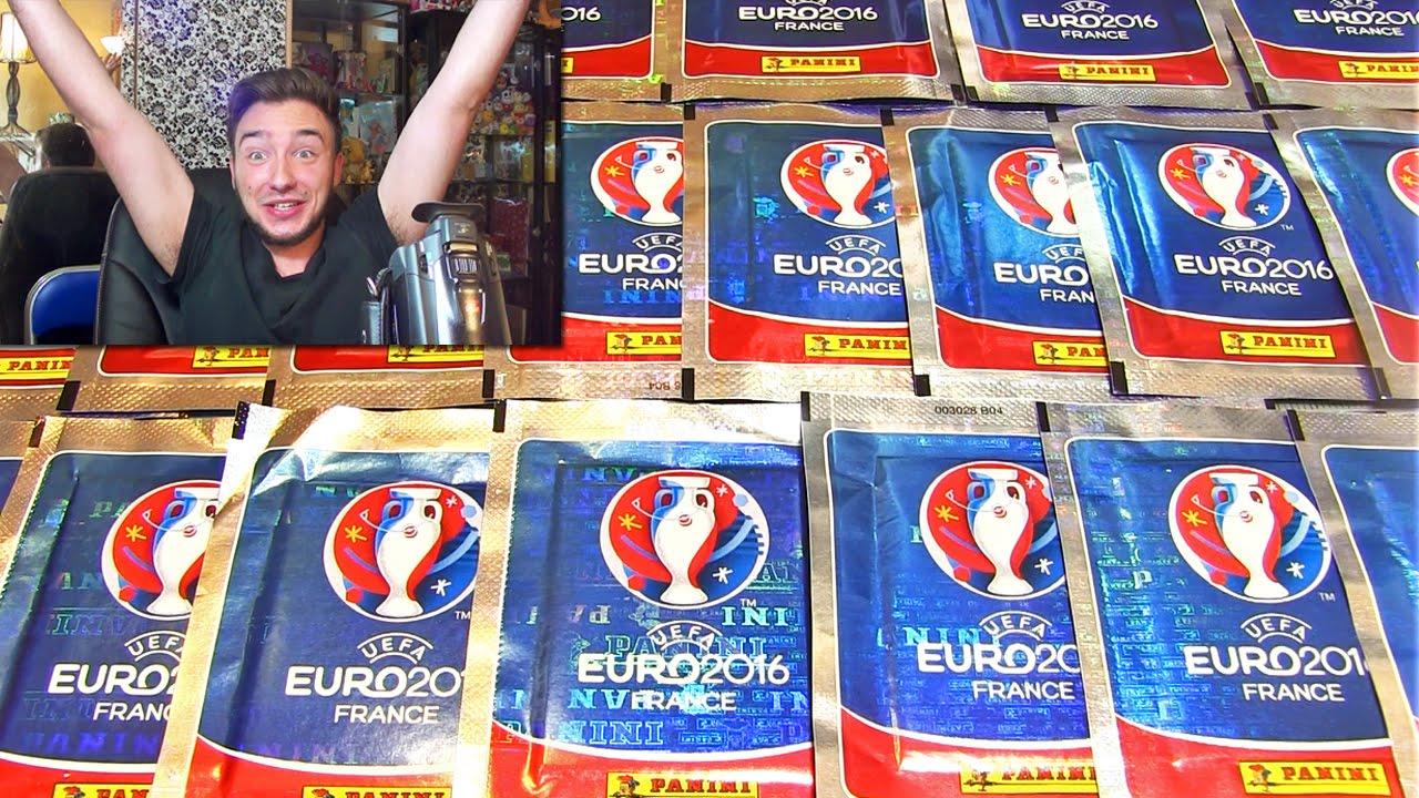 carte de foot panini Ouverture de 20 Pack Panini FOOTBALL EURO 2016 ! ZLATAN