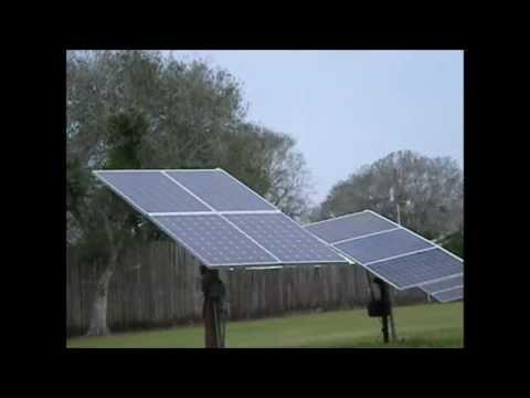 Solar Tracker 6 Panel Install