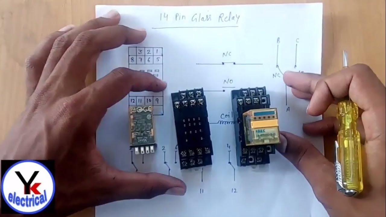 14 pin relay in hindi yk electrical [ 1280 x 720 Pixel ]