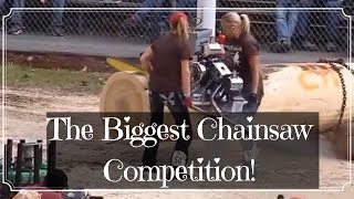 Amazing ! The Biggest Electric Chainsaw in The World Competition