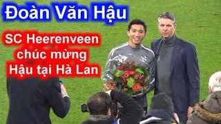 Đoàn Văn Hậu Lễ chúc mừng Văn Hậu và Việt Nam quá hoành tráng tại SVĐ Heerenveen 14-12| Sarah Nguyen