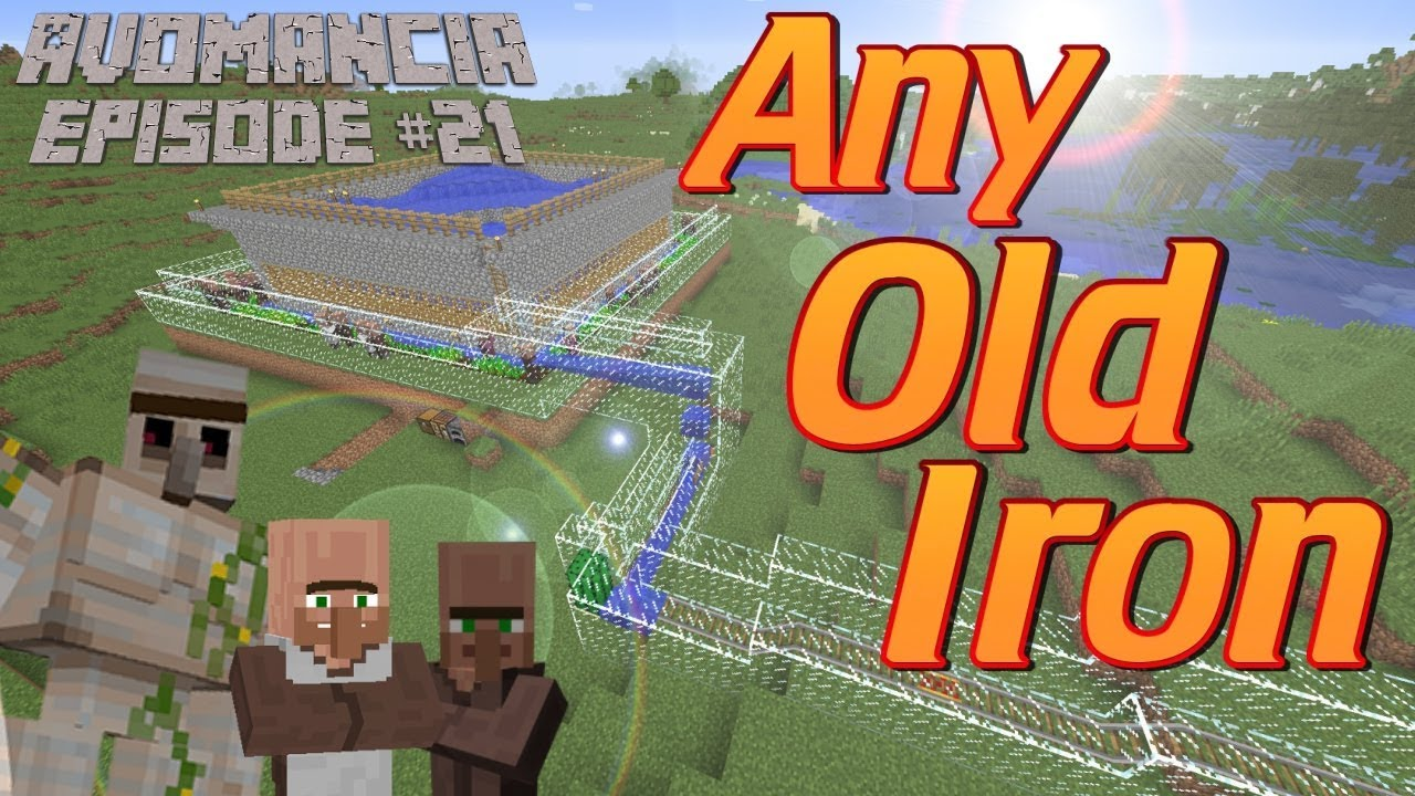 minecraft 1.13 iron farm