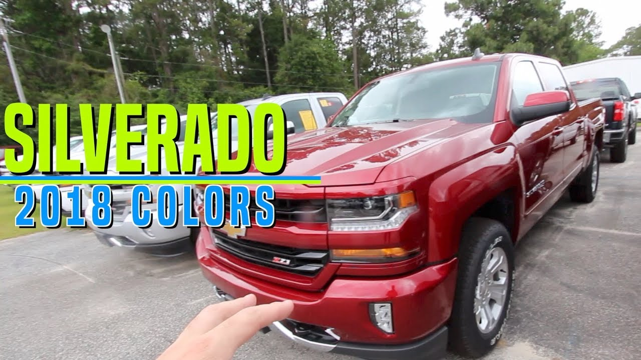 Here's the Colors of the 2018 Chevrolet Silverado's | Exterior Color  Options LT, Premier & Z71