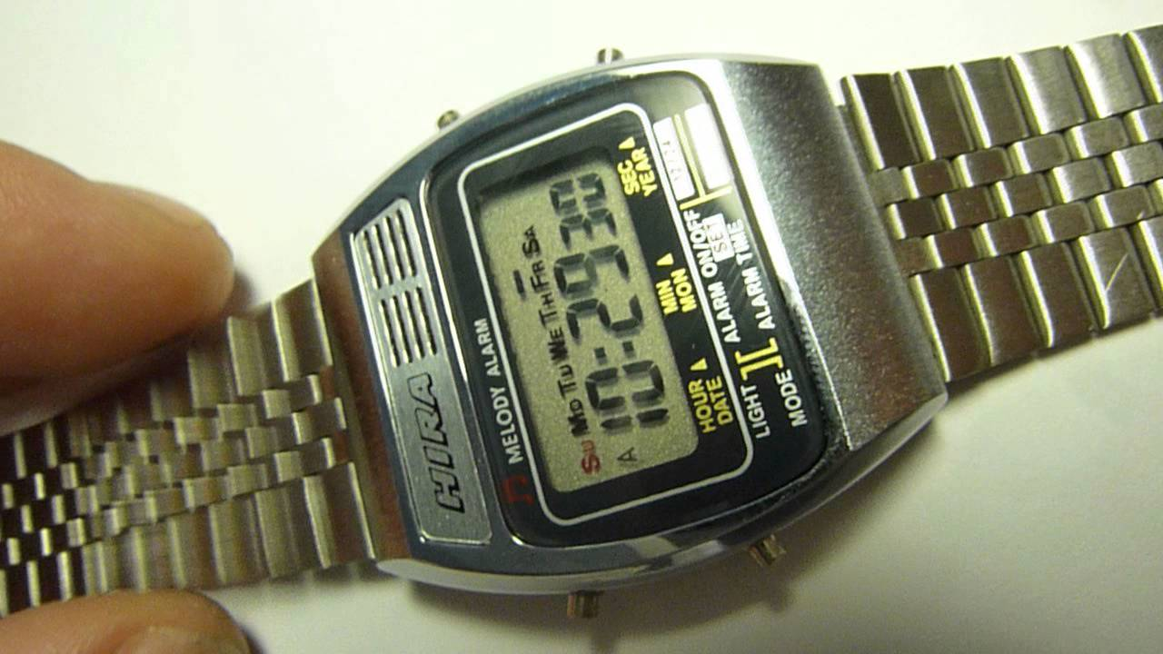 15251ce359c Hira 1980s vintage digital melody watch oh my darling clementine old ...