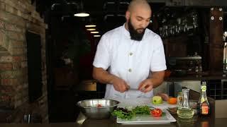 Food Black Chef Салат со шпинатом индейкой под цитрусово горчичным соусом - здоровое питание #2