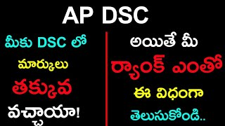 AP DSC Qualifying marks    AP DSC Rank Information    How to calculate 20% TET Weitage    Don't miss