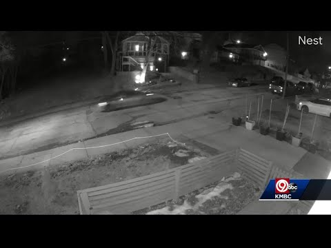 Drive-by shooting in Kansas City caught on security camera
