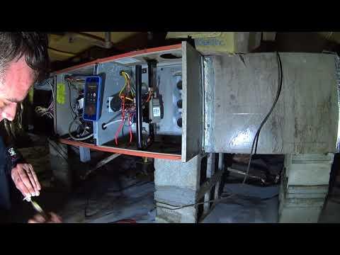 10-10-17 90% Furnace Heating Service Airflow Adjustment Diagnostics on Trane Heatpump
