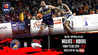 2019-20 BBL Cup, Semi-Final (1st Leg): Worcester Wolves v Leicester Riders - 13 Dec 2019