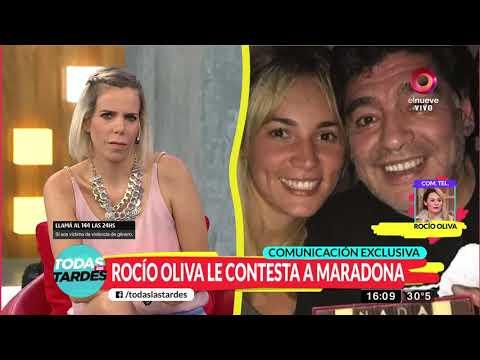 """Rocío Oliva: """"No me interesa quién está con Diego hoy'"""