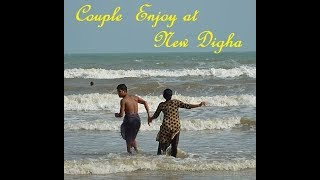 Couple Enjoying Sea  Bath at Digha  || New Digha, West Bengal