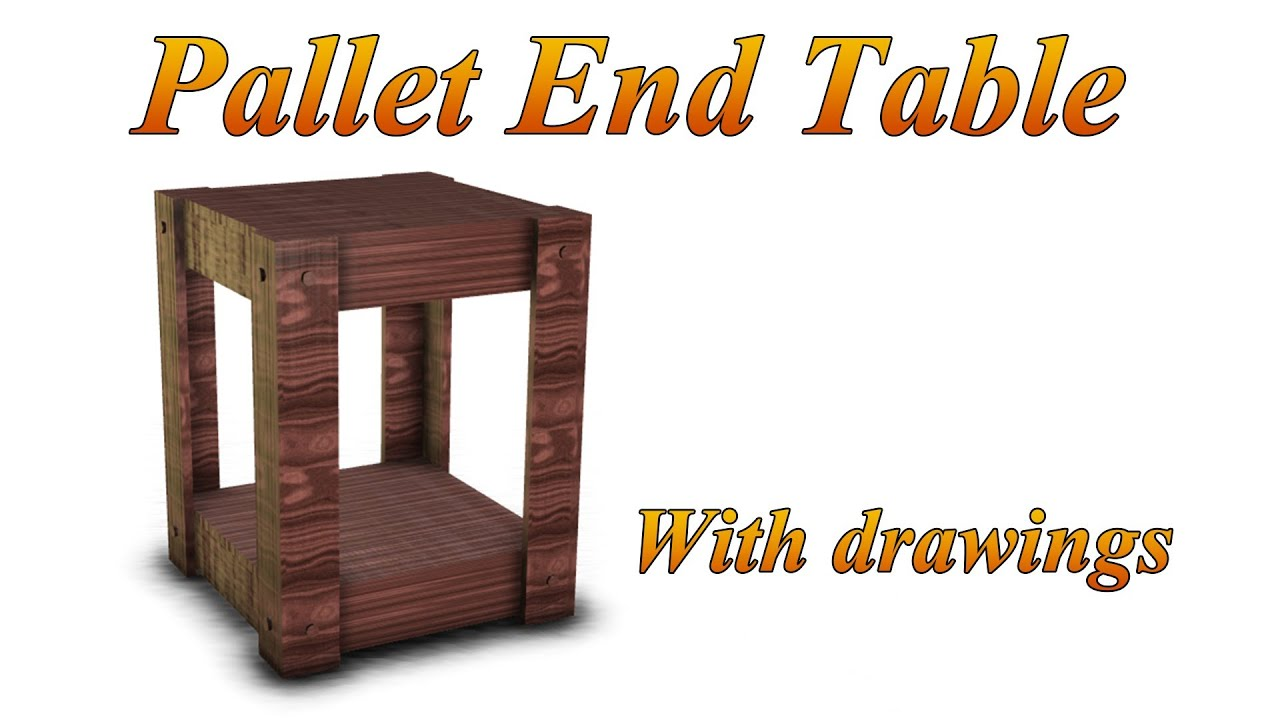 Furniture Made From Pallets Plans end table made from pallets (plans included) - youtube