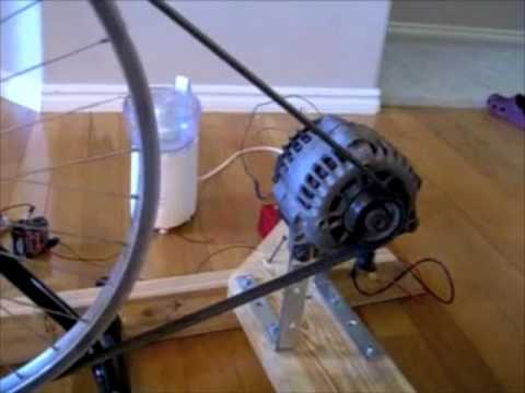 Electric Bike With Car Alternator