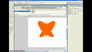 FLASH TUTORIAL How-To Create A Butterfly And Make It Fly #1