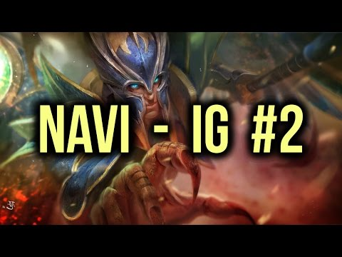 NaVi vs IG (Invictus Gaming) Dota 2 Highlights TI5/The International 5 Group Stage Game 2 poster