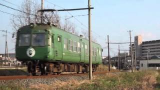 2016.1.31 熊本電鉄5101A 坪井川公園~打越駅間 1
