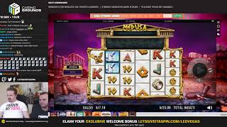 CASINO AND SLOTS LIVE - Medusa Megaways !giveaway is live 😍 (06/05/19)